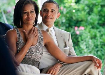 Как Обама честити рождения ден на Мишел